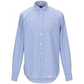 《期間限定セール開催中!》SINK OR SWIM メンズ シャツ アジュールブルー XL コットン 100%