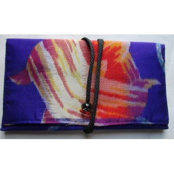 4369 #送料無料 銘仙の着物で作った財布・ポーチ