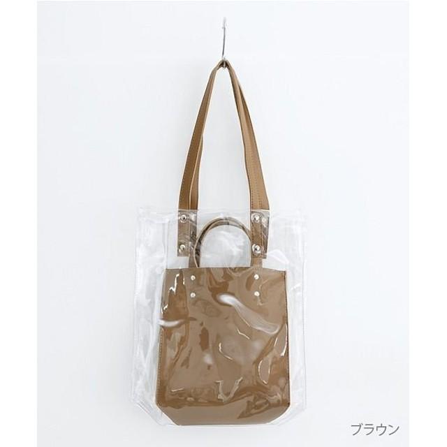 【19%OFF】 メルロー PVC×フェイクレザー レディース ブラウン FREE 【merlot】 【タイムセール開催中】