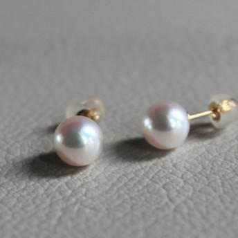 真珠の耳飾り(パール一粒ピアス 18KYG)