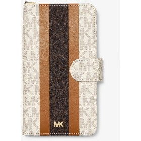 MICHAEL MICHAEL KORS レディース フォリオ リストストラップ - iPhone XR バニラ/アコーン マイケル・コース