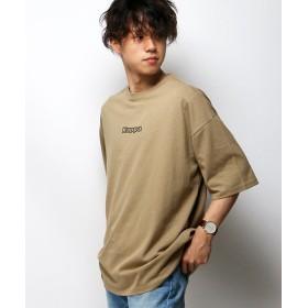 ヴァンスエクスチェンジ Kappa カッパ 別注オミニロゴプリントTシャツ メンズ ベージュ M 【VENCE EXCHANGE】
