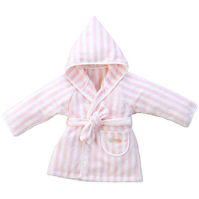 赤ちゃんの城 バスローブ ピンク キッズ【出産のお祝いに】