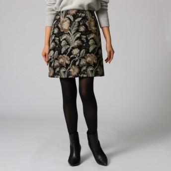 [マルイ]【セール】ゴブラン織り台形スカート/アンタイトル(UNTITLED)