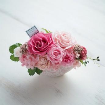 Oak House オークハウス【高島屋限定】【プリザーブドフラワーほか】プリザーブドフラワー クチュール L(ピンク)【結婚のお祝いに】