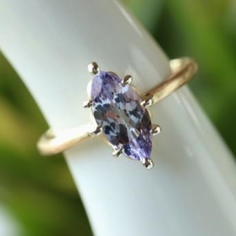ファンシータンザナイト指輪