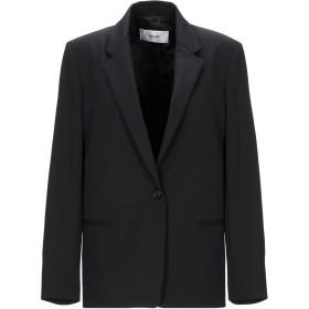 《セール開催中》MAURO GRIFONI レディース テーラードジャケット ブラック 42 ポリエステル 53% / バージンウール 43% / ポリウレタン 4%