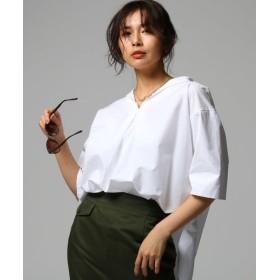 【50%OFF】 アンタイトル セーラー風ワイドシャツ レディース ホワイト(001) 02(M) 【UNTITLED】 【セール開催中】