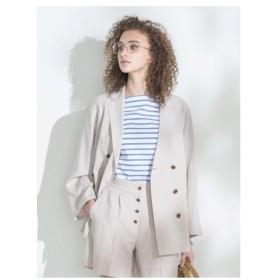 Mila Owen(ミラ オーウェン)スコッチボタンダブルシャツジャケット