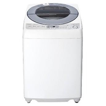 シャープ SHARP 全自動洗濯機 [洗濯8.0kg/インバーターモーター搭載/ダイヤカット穴なし槽] ES-GV8D-S シルバー系