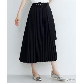 メルロー ティアードプリーツスカート レディース ブラック FREE 【merlot】