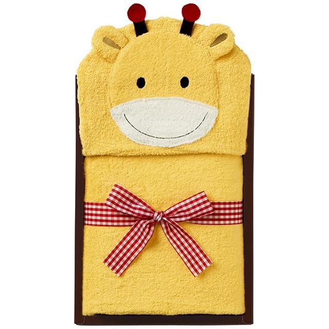 MIKI HOUSE ミキハウス フード付バスタオル(キリン) キッズ【出産のお祝いに】