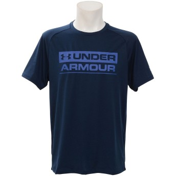 19S UA TECH STACKED WORDMARK SS UNDER ARMOUR (アンダーアーマー) 1348560 408 NVY