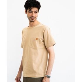 グリーンレーベルリラクシング [ユニバーサルオーバーオール] SC UNIVERSAL OVERALL ロゴ ポケット Tシャツ メンズ BEIGE M 【green label relaxing】