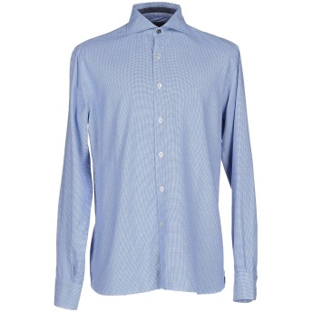 《9/20まで! 限定セール開催中》DOMENICO TAGLIENTE メンズ シャツ アジュールブルー 41 コットン 100%