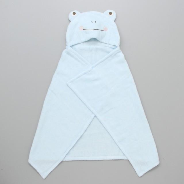 INUJIRUSHI 犬印本舗 INUJIRUSHI Baby フード付ベビーバスタオル かえる【出産のお祝いに】