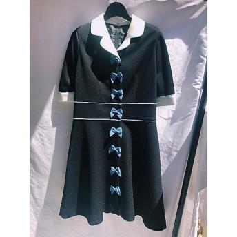 【SALE(伊勢丹)】<PAMEO POSE/パメオポーズ> Ruban La Nina Dress ブラック 【三越・伊勢丹/公式】