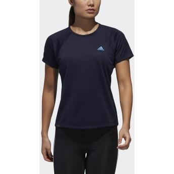 W 定番ロゴワンポイント半袖Tシャツ adidas (アディダス) FTF32 DV2244.