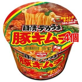 日清デカうま 豚キムチ (101g4個セット)