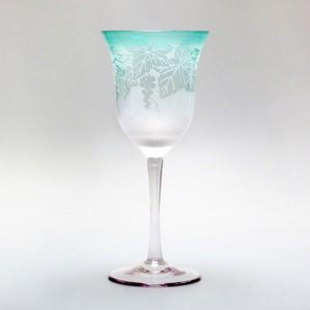 太武朗工房 彫刻夢柄子 ぶどう紋 ワイングラス(PG)