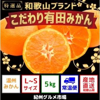 【こだわり】有田みかん 5kg(L~Sサイズ)【紀州グルメ市場】◆◆