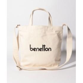BENETTON ベネトン 2WAYロゴショルダートートバッグ S