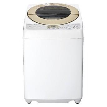 シャープ SHARP 全自動洗濯機 [洗濯9.0kg/インバーターモーター搭載/ダイヤカット穴なし槽] ES-GV9D-N ゴールド系