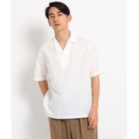(DRESSTERIOR/ドレステリア)【洗える】リネンコットン開襟シャツ/メンズ ホワイト(002) 送料無料