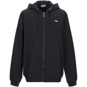 《期間限定セール開催中!》FILA メンズ スウェットシャツ ブラック XXL コットン 95% / ポリウレタン 5%