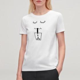 Tシャツ タピオカ美味しい (TRUSS ヘビーウェイトTシャツで)
