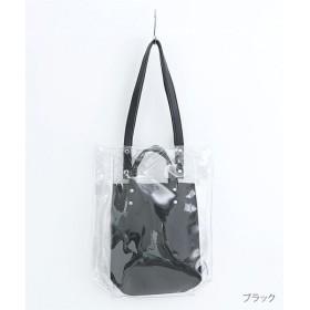 メルロー PVC×フェイクレザー レディース ブラック FREE 【merlot】