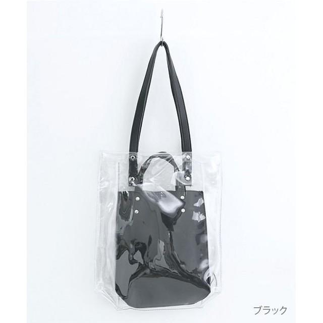 【19%OFF】 メルロー PVC×フェイクレザー レディース ブラック FREE 【merlot】 【タイムセール開催中】