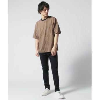 Tシャツ - SPUTNICKS カットソー メンズ M L 春 夏 ポリエステル ポリウレタン レジメンストライプ レジメンストライプ 半袖 カットソーBuyer's Select バイヤーズセレクト