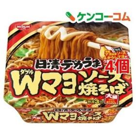 日清デカうま Wマヨソース焼そば ( 153g4個セット )/ 日清デカうま