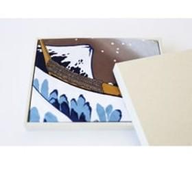 職人が手捺染で染め上げた大風呂敷「北斎・波」