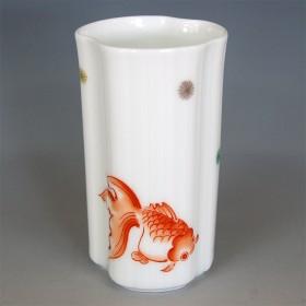 FUKAGAWA SEIJI 深川製磁 錦手金魚 ビアカップ