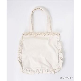 メルロー パール付フリルバッグ レディース オフホワイト FREE 【merlot】
