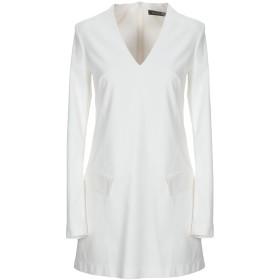 《期間限定 セール開催中》MANGANO レディース ミニワンピース&ドレス ホワイト 38 コットン 64% / ナイロン 31% / ポリウレタン 5%