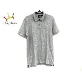 ヒューゴボス HUGOBOSS 半袖ポロシャツ サイズM レディース 美品 ライトグレー   スペシャル特価 20190912