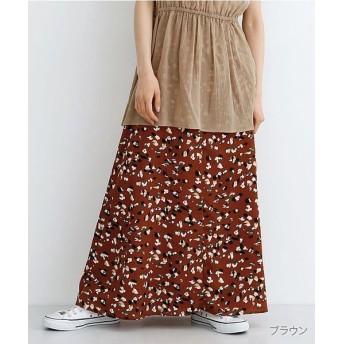 メルロー くるみボタンAラインスカート レディース ブラウン FREE 【merlot】