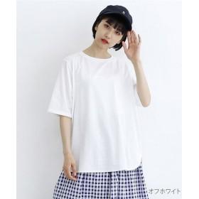 【14%OFF】 メルロー ラウンドヘムオーバーサイズTシャツ レディース オフホワイト FREE 【merlot】 【タイムセール開催中】