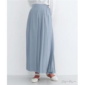 メルロー マキシプリーツスカート レディース グレー FREE 【merlot】