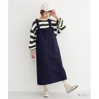 【70%OFF】 メルロー ロープスピンドルジャンパースカート レディース ネイビー FREE 【merlot】 【セール開催中】