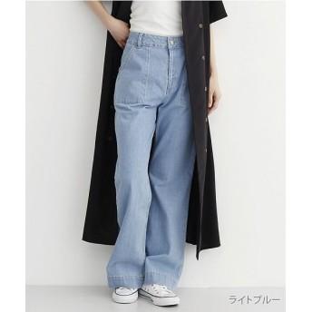 メルロー ブーツカットフレアデニムパンツ レディース ライトブルー FREE 【merlot】