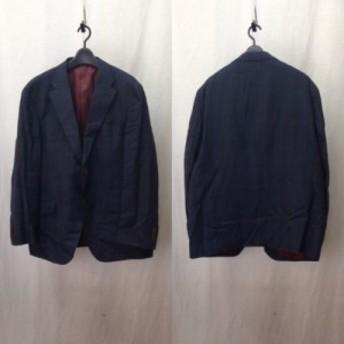 【古着】azabu tailor アザブテーラー 麻布テーラー セットアップ スーツ ウール チェック シングル テーラード 2B ジャケット