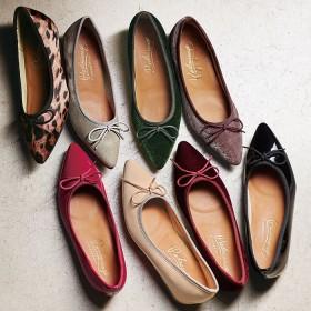 ベルーナ インヒールポインテッドバレエパンプス エナメルブラック 24.5cm レディース靴 レディース おすすめ 人気 通販 ランキング 安い 歩きやすい 大きいサイズ パンプス