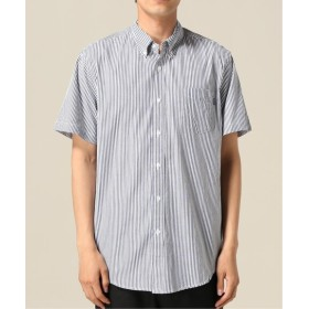 WISM ONLY NY / オンリーニューヨーク STRIPED S/S BUTTON DOWN ネイビー L