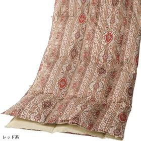西川 ◆ホワイトダックダウン90%入洗える羽毛肌掛ふとん レッド系 150×210cm