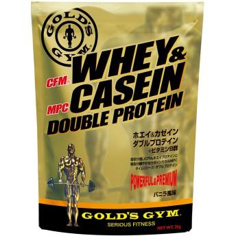 GOLD'SGYM ゴールドジム ホエイ&カゼイン ダブルプロテイン バニラ風味 2kg