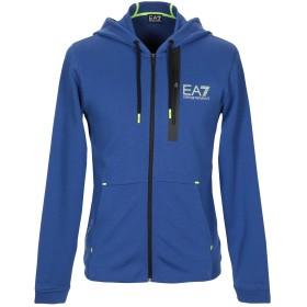《セール開催中》EA7 メンズ スウェットシャツ ブルー M コットン 51% / ポリエステル 49% / ポリウレタン